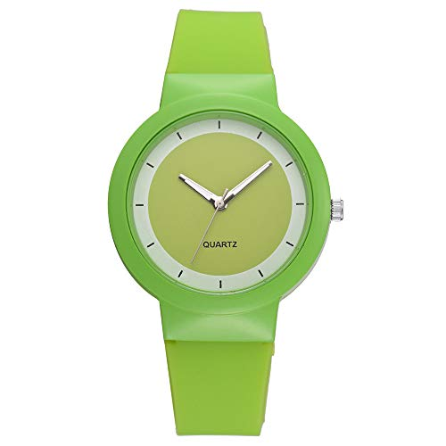 ach Uhren Silikon Armband Analog Quarz Armbanduhr, Gelee Farbe(Grün) ()