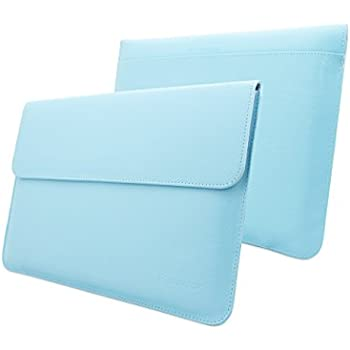Macbook Pro 13 and Air 13 Sleeve, Snugg - Baby Blue Leather Sleeve Case [Lifetime Guarantee] Protective Cover for Macbook Pro 13 and Air 13 with Touchbar (2016)