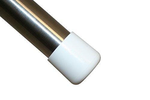 GLEITGUT 4 x Stuhlkappen Fußkappen Rohrkappen Ø 25 mm weiss - Endkappen für Rundrohre