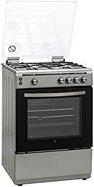 Hoover 60 X 60 cm, 4 Burners Full Gas Cooker, Silver - FGC6060-S1V, 1 Year Warranty