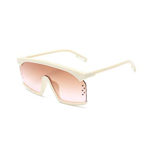 Huanxin Strand-Sonnenbrille, Retro-Sonnenbrille, polarisiert, 100% UV400-Schutz, leicht, übergroße Sonnenbrille für Outdoor-Aktivitäten g