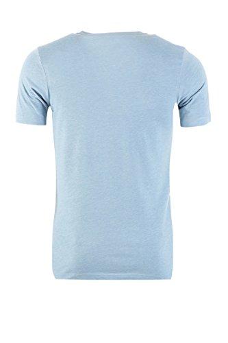 JACK & JONES Herren T-Shirt Jcoscone Tee Ss Crew Neck Faded Denim