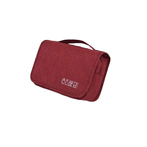 8haowenju accroché trousse de toilette pour hommes et femmes - organisateur de voyage de toilette, haute qualité, dernier style (Color : Red)