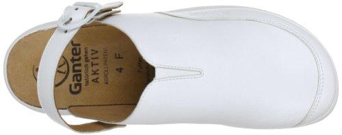 Ganter AKTIV Fabia, Weite F 5-202337-02000, Sabot donna Bianco (Weiß (weiss 0200))