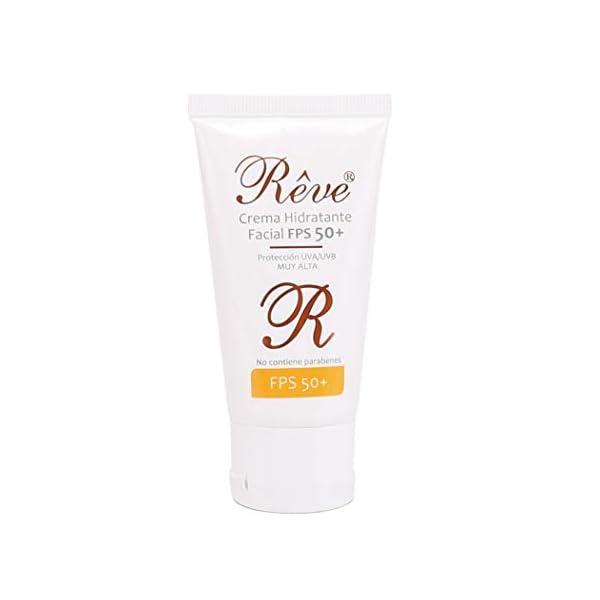 REVE Crema Hidratante Facial con protección solar muy alta FPS 50 – sol y nieve – Hombre y Mujer, Día y Noche…