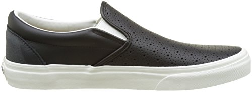 Vans Ua Classic Slip-On, Baskets Basses Homme Noir (Leather Perf)