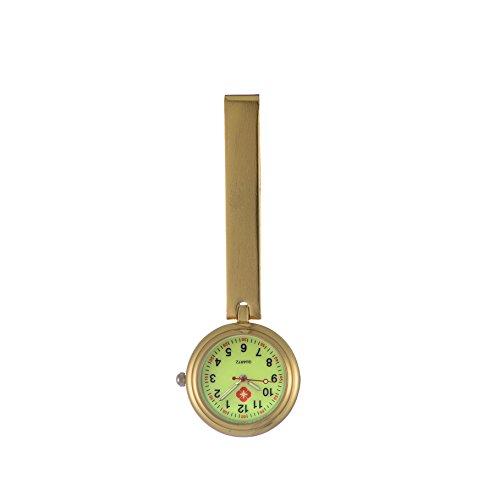 Ellemka JCM-1020 – Exquisite Schwesternuhr Clip zum Anstecken FOB Kittel Krankenschwester Pflege-r Quarz Puls-Uhr Tasche-n Band Ansteck-Nadel Fashion Trend Design Lumineszent - Farbe Gold - Nadel-designs