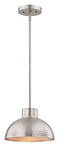 Westinghouse 1 Light Pendant with Stems, 26 cm, 0.98 kg - Brushed Nickel