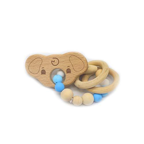 Langlebiges Silikon Holz Rasseln Baby Safe Ring Beißring Hand Entwicklung Educational Kinder Spielzeug Koala Stil Spielzeug
