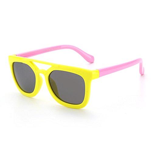 Sunglasseslifes Kinder Polarisierte Sonnenbrillen Silikon-Material, sicher und sicher - UV400 Schutz Unisex,2