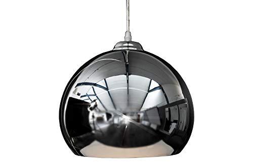 DuNord Design-Lámpara de techo colgante Proyección bola cromo diseño retro lámpara de techo diseño de los años 70
