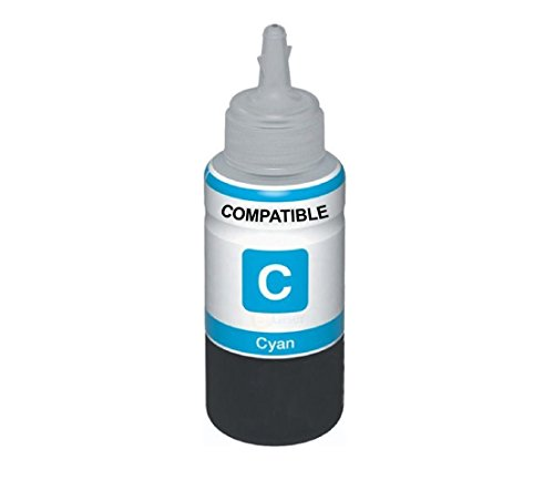 AB Compatible EPSON Cyan T6642 Refill Ink for L100, L110, L130, L200, L210, L220, L300, L310, L350, L355, L360, L365, L455, L550, L555, L565, L1300  available at amazon for Rs.265