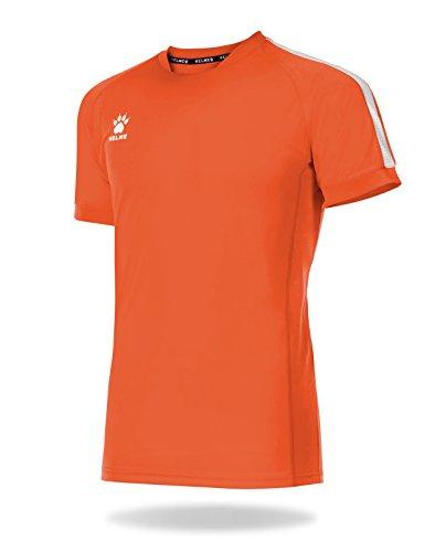Kelme global maglietta calcio, uomo, uomo, global, arancione/bianco, 2xl