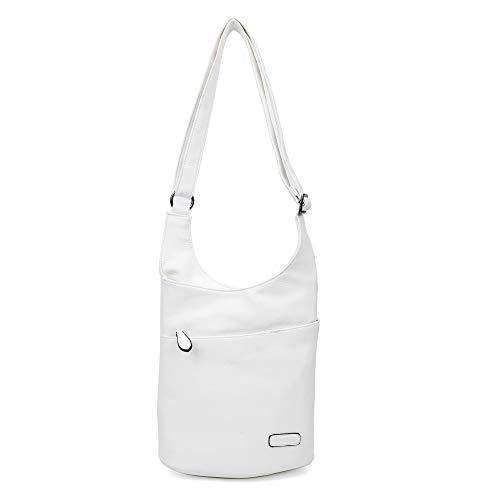 CASAdiNOVA ® Damen Umhängetasche Weiß | Schultertasche | Damenhandtasche | Handtasche | Crossbody | Messenger Bag | Shopper Tasche | premium Tote