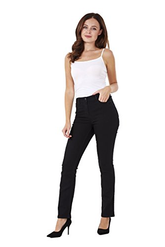 Ladies Straight Leg Denim Womens Pants Stretch Regular Fit Jeans