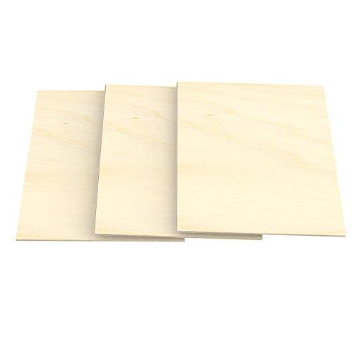 AUPROTEC 3x A4 Sperrholz-Platten Birke 3mm Multiplexplatten (210 mm x 297 mm) Bastel- und Laubsäge-Holzplatten Birke Massiv Multiplex Holz 1. Klasse Industriequalität