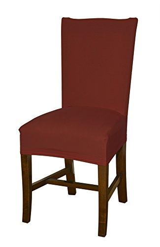 Viel Elastischer (Stuhlhusse rot von Bellboni, hochwertiger Stuhlbezug, Stuhlüberzug, passend für viele Stuhlgrößen elastisch, bi-elastic)