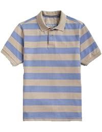 3ba56f9ed Joules Mens Blue Taupe Stripe Filbert Classic Polo Shirt