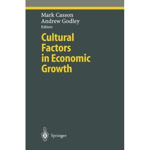 Cultural Factors in Economic Growth (Ethical Economy) (2000-09-15)