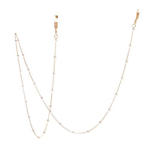 Hibote Brillenkette Perlen Brille Schnur Sonnenbrille Lanyard Retainer Strap, Gold