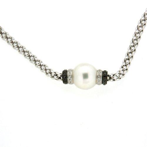 ORIGINAL FOPE Halskette Flex'it Solo Weißgold 18kt, natürliche Perle - 642cbthb (Flex Natürlichen)
