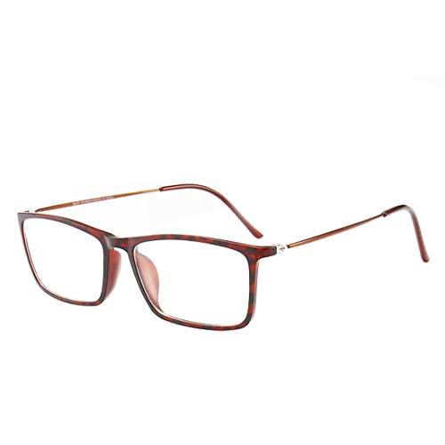 Shiduoli Komfortable Stahl kann mit Myopiegläsern für Frauen ausgestattet Werden (Color : Dark Brown)