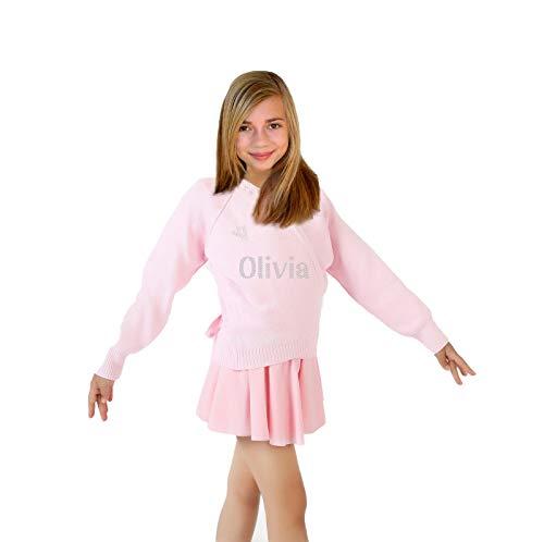 Varsany personalizzato ragazze rosa cardigan scaldacuore da danza over, bambino, 3/4 anni