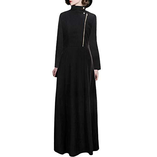 TWBB Damen Einfarbig Mantel Trenchmantel Windjacke Lange Pullover Jacke Mit Reißverschluss Strickjacke Outwear