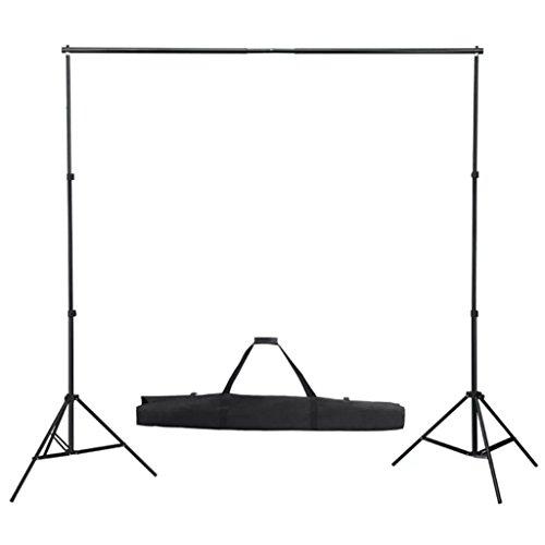 vidaXL Système de Toile de Fond Télescopique 155-300 cm Support de Fond Studio