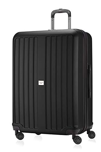 HAUPTSTADTKOFFER - X-Berg - Koffer Trolley Hartschalenkoffer, TSA, 75 cm, 128 Liter, Schwarz