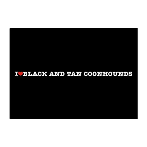 Teeburon I love Black and Tan Coonhounds Aufkleber Packung x4 -