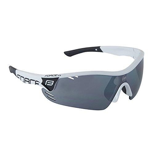 Force Profi Radsportbrille RACE PRO, Fahrradbrille, verschiedene Farben (weiß-schwarz)
