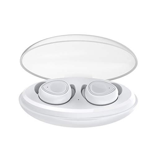 Barlingrock Bluetooth 5.0 Wireless Kopfhörer Deep Bass Stereo Sound True Wireless Kopfhörer Kopfhörer Kopfhörer für Laufen, Headset TWS Wireless Kopfhörer Zwillinge Ohrhörer Stereo Kopfhörer (All One Hands Free-headset In)