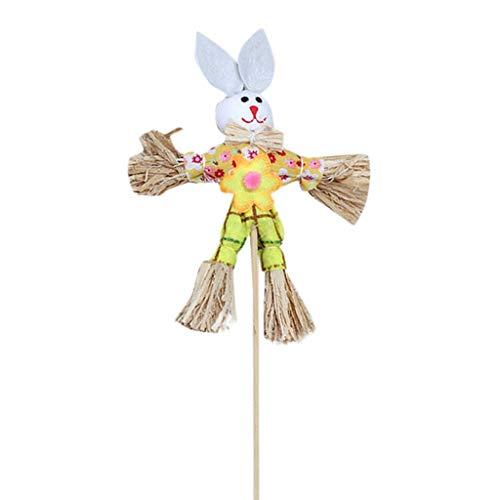 Altsommer Easter Bunny Theme Handheld Vogelscheuche Vliesstoff Stroh Materialien Spielzeug Requisiten