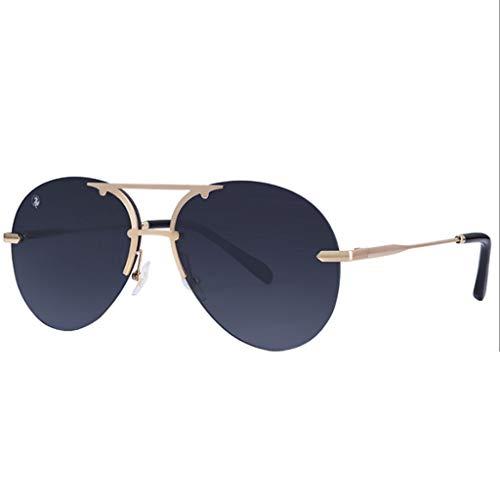 WangYi Sonnenbrillen- Herren-Sonnenbrille mit großem Rahmen und UV-Schutz ohne Rand....