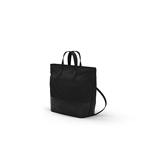 Quinny Wickelrucksack, Baby-tasche, Windel-tasche (auch als modische Wickeltasche tragbar, mit viel Platz und Zubehör inkl. Wickelauflage) schwarz