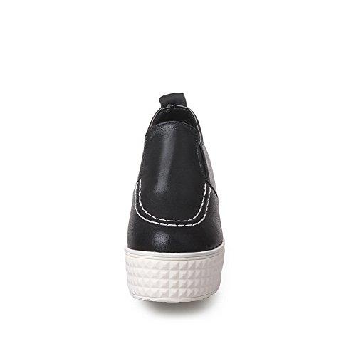 Nera tallone shoes Massicce Pompe Pelle Delle Balamasa Finta Signore No qpEzCAx0w
