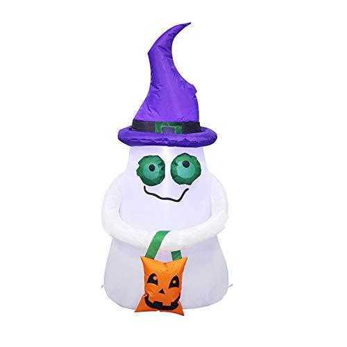Eleganter, aufblasbarer Geist, Halloween, für Zuhause, Hof, Dekoration, Bühne, Requisite, 1,2 m Pumpkin Shopping Bag Small Ghost