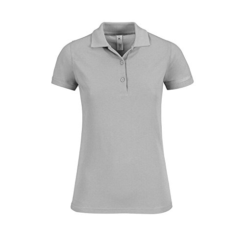 B&C Collection - Polo - Femme Gris - Pacific Grey