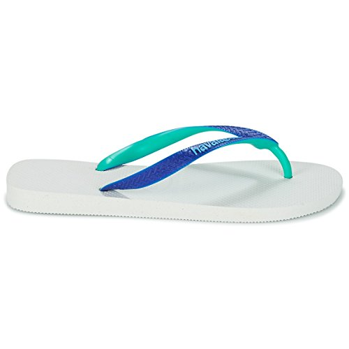 Havaianas Top Mix, Infradito Unisex-adulto White/Marine Blue