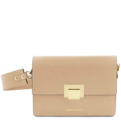 Adele Clutch (Tuscany Leather Adele Clutch aus Leder - TL141742 (Champagne))