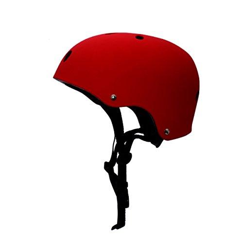 Profi Rollschuhlaufen Helm Skaten Fahrrad Erwachsene Verstellbar Skateboard Sport Helm,Red