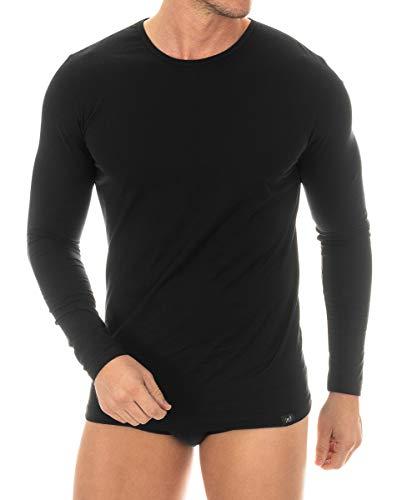 Camiseta de manga larga de algodón egipcio, de máximacalidad. Se adapta al cuerpo como una segunda piel. Su acabado a mano la hace única. Máxima transpiración, elegancia y confort.
