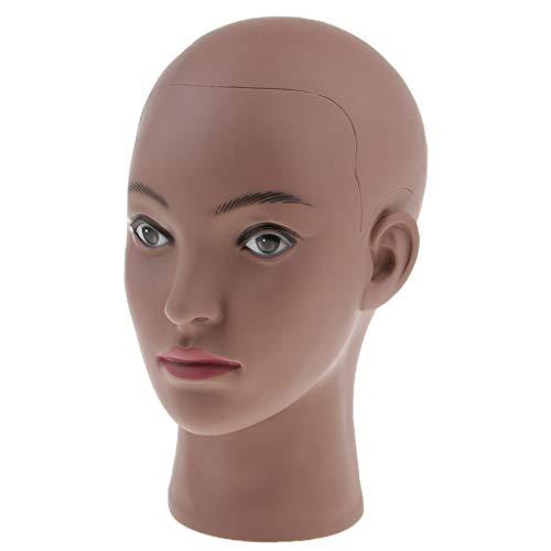 Baoblaze Tete de Mannequin Afro Femme Tete en PVC pour Affichage