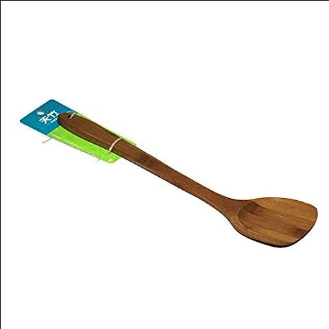 Vogholic Kitchen Paddle Scoop Ladle Bamboo Pancake Turner Brown 38cm Long