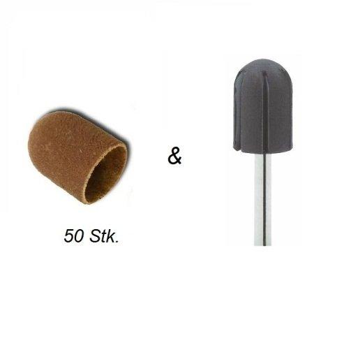 50 Schleifkappen Ø 16 mm #80 mit Träger