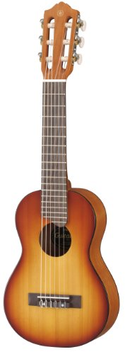 Yamaha GL1 TBS Guitalele - Guitarra tamaño Ukelele con funda, color Marrón claro (Tobacco Brown Sunburst)