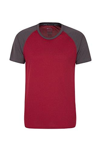 Mountain Warehouse Endurance Herren-T-Shirt - Atmungsaktives Allwetter-T-Shirt, UV-Schutz mit LSF30, Leichtes Hemd, bequemes und schnelltrocknendes Oberteil Burgundrot XXX-Large