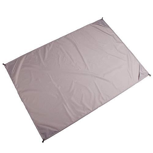 KINDOYO Esterilla Camping - Impermeable Portátil Ultraligero Bolsillos Manta Esterilla Plegable Exterior Picnic Estera, Gris, M(1.4 * 1.5m)