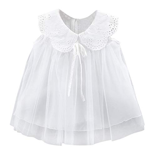 Weant Baby Kleidung Mädchen Keider Festlich Outfits Puppenkragen Mesh Spitze Bowknot Partykleid Sommerkleid Prinzessin Kleid Kinder Kleider Baby Bekleidungssets Neugeborenen Bekleidungset